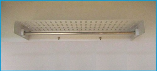 Shelf with IV bar
