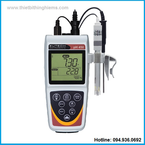 máy đo pH450 cầm tay hãng Eutech