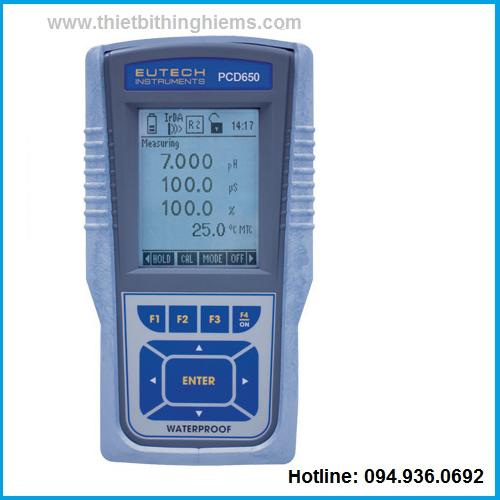 Máy đo đa chỉ tiêu PCD650 hãng Eutech