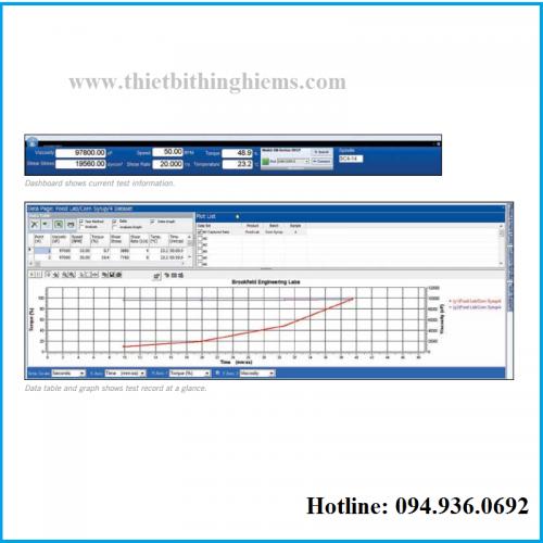 Phần mềm máy đo độ nhớt DV1 hãng Brookfield