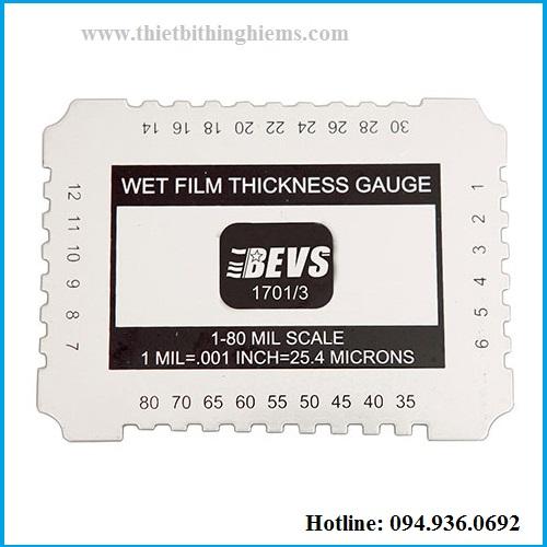 Thước đo độ dày sơn ướt hãng BEVS 1701/3