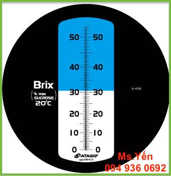 Thang đo khúc xạ kế đo độ Brix Master-53M hãng Atago