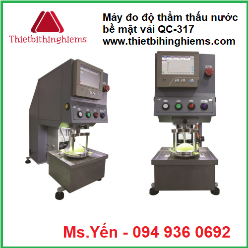 may do do tham thau nuoc be mat vai qc-317 hang cometech