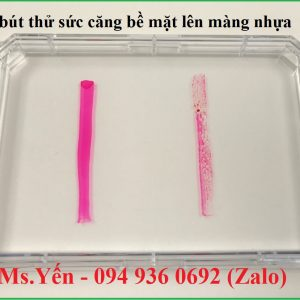 Test thử sức căng bề mặt lên màng nhựa